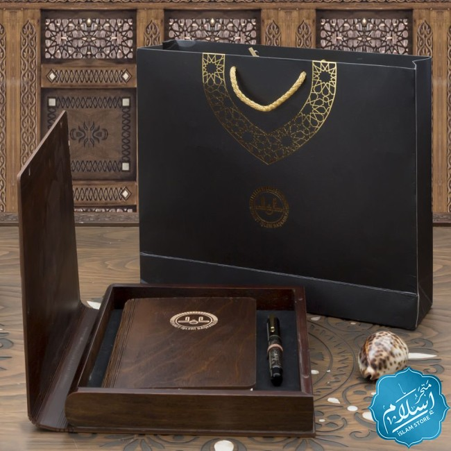Corporate gifts, Ballpoint pen and wooden agenda
