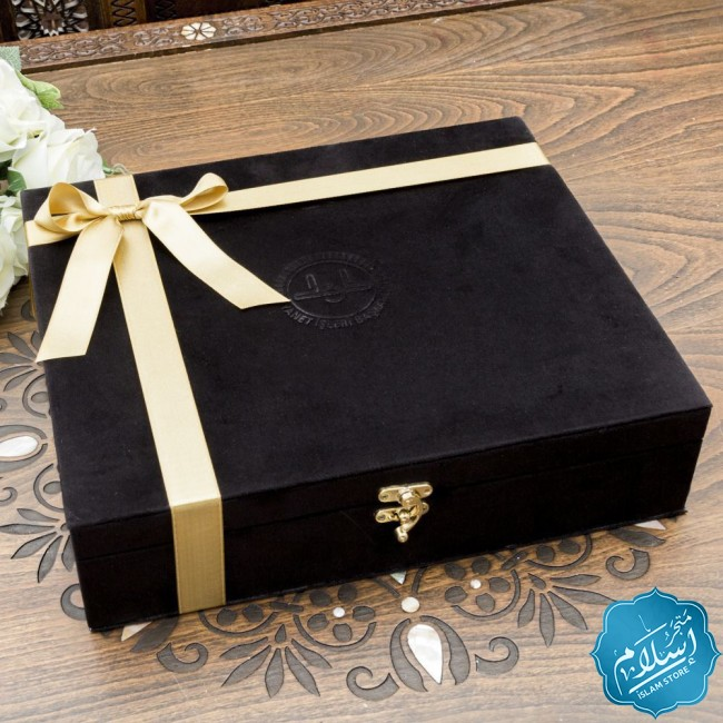 Corporate gifts,Velvet set with 2 cups and coffee
