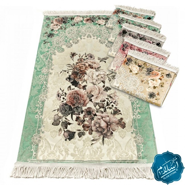Luxurious prayer rug in different colors