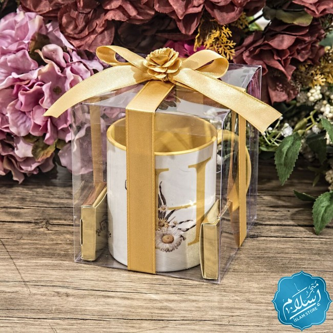 Islamic gift set for occasions ,a cup and two chocolate pieces