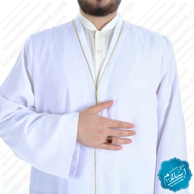 Talaa Abaya White Color