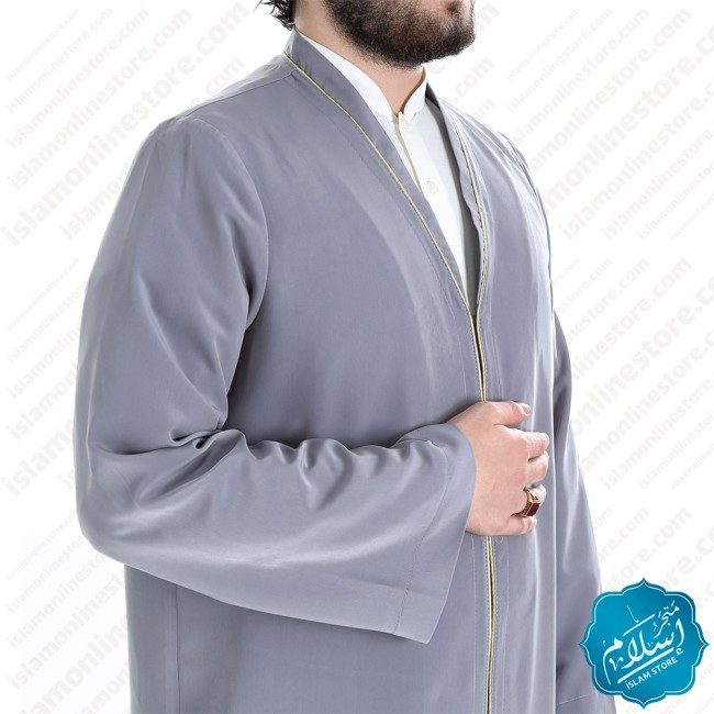 Talaa Abaya Grey Color