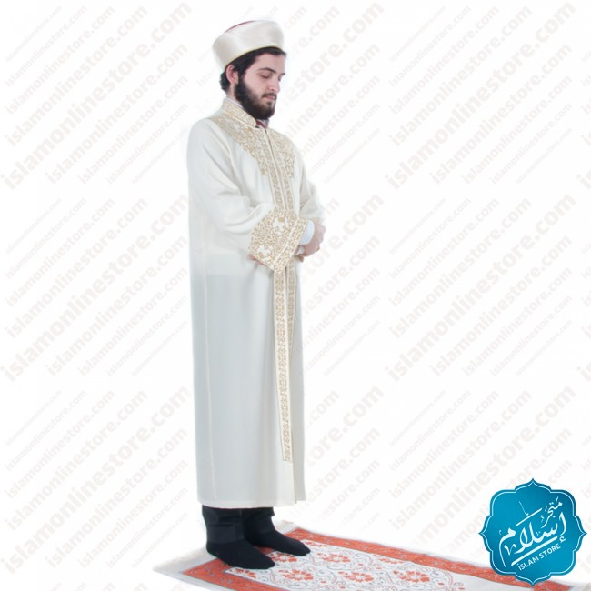 Ottoman Abaya Cream Color