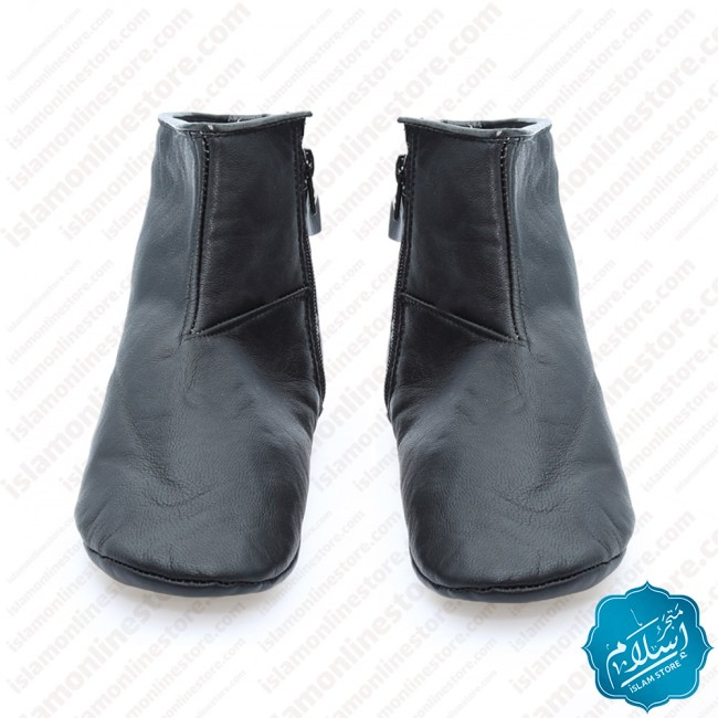 Natural Leather Slippers Black Color 2