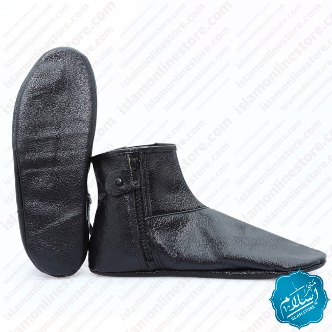 Natural Leather Slippers Black Color 3