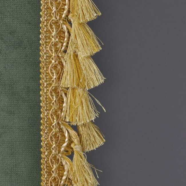 Rostrum Curtain Decorated Green Color