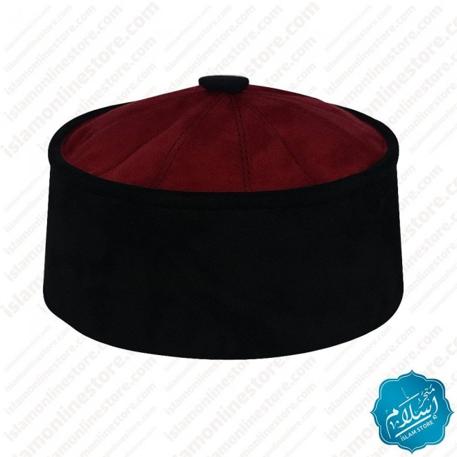 Cap prayers for men Red and black color