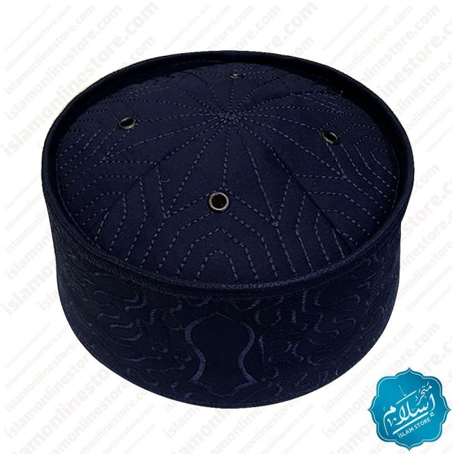 Men's Prayer Cap Dark Blue Color-5