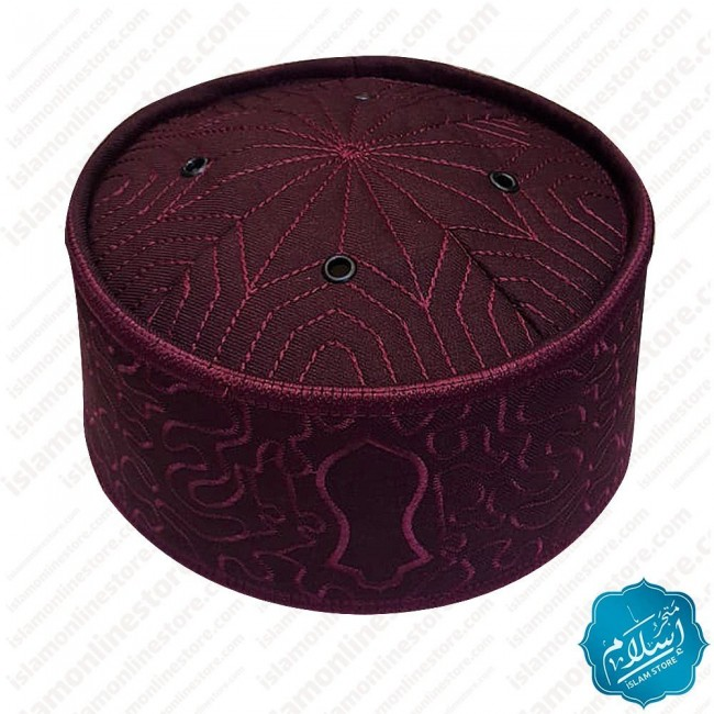 Men's Summer Cap Burgundy Color-7