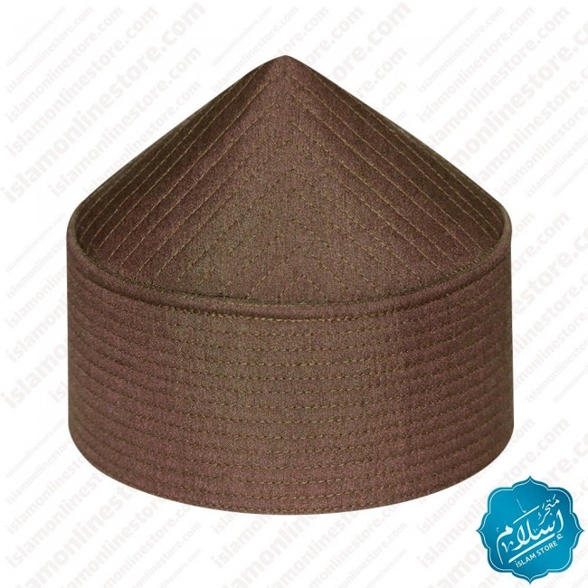 Men's Prayer Cap Pyramid Shape Brown Color