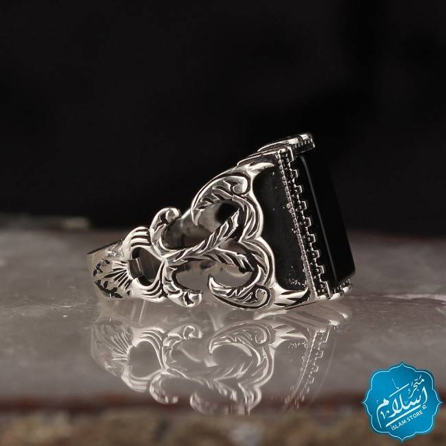 Silver Ring With Onyx Stone