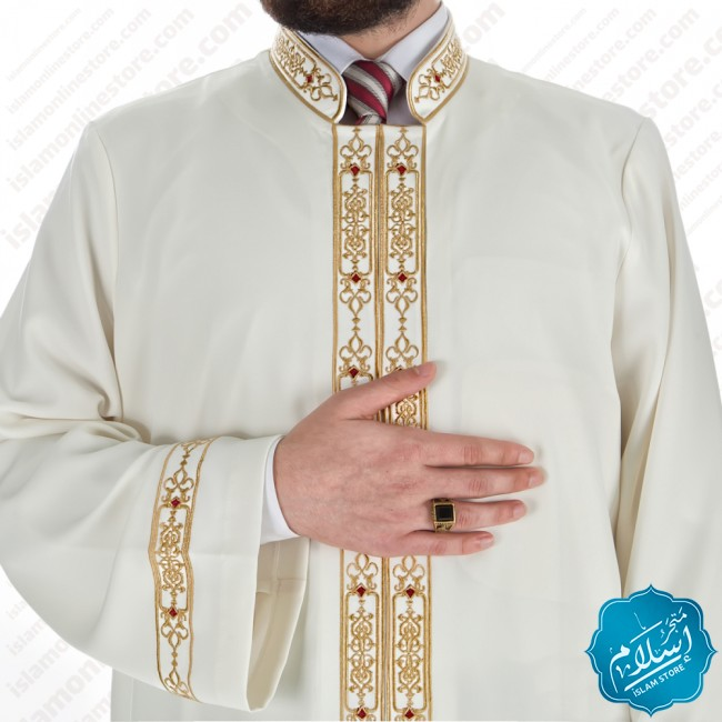 Alem Abaya Cream Color
