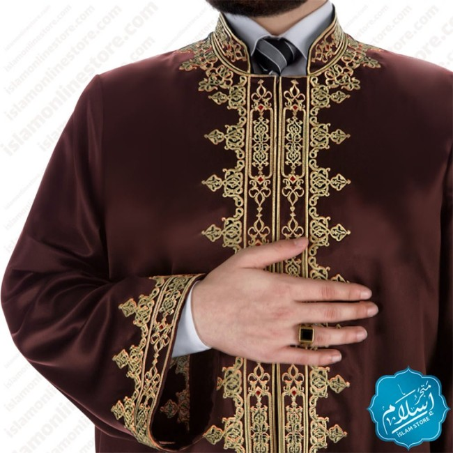 Raad Abaya Brown Color